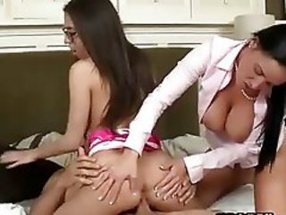 Ass Daughter Family  Mom Old and Young Riding Teen Threesome