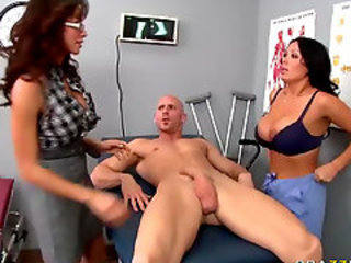 Amazing  Big Tits Doctor  Pornstar Threesome