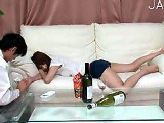 Asian Drunk Japanese Sleeping Teen