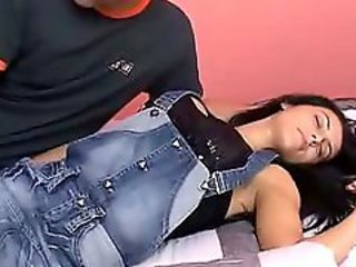 Jeans Sleeping Teen
