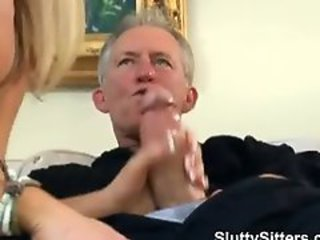 Babysitter  Daddy Handjob Old and Young Teen