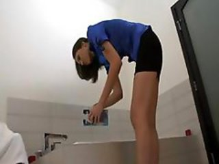 Bathroom Cute Skinny Teen