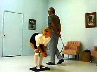 Office Old and Young Spanking