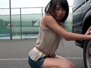 Asian Pissing Public Skinny Teen