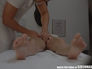 Czech Massage Room Intensive Sex with Teen Brunette