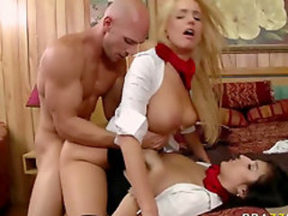 Big Tits European Hardcore Teen Threesome Uniform