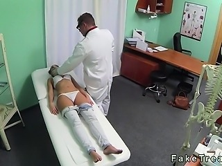 Amazing Brunette Doctor Teen Uniform