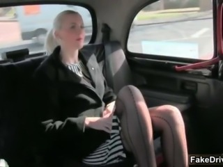 Sexy blonde babe from FakeTaxi goes