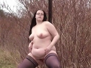 Heavy amateurs public nudity and chubby Emmas homemade exhibitionism...