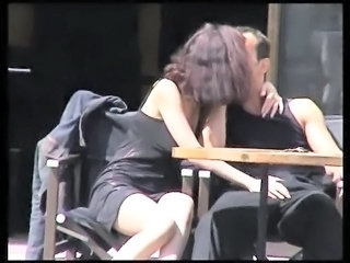Girlfriend Kissing Public Voyeur