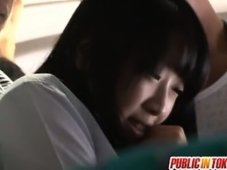 Wet panty of nice teen Japanese babe get torn apart