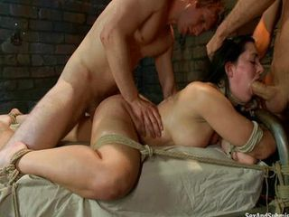 Blowjob Bondage Double Penetration European Hardcore MILF Threesome