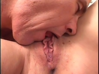 Beautiful young deep throat brunette gets fucked in all holes by big dick