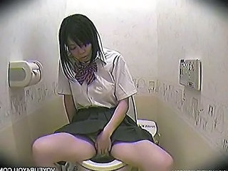 Asian HiddenCam Masturbating Toilet
