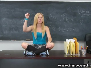 Innocenthigh Sexy Blonde Teen Fucks Boyfriend In Classroom