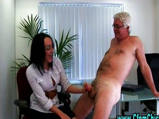 Horny Office Dick Cfnm Handjob