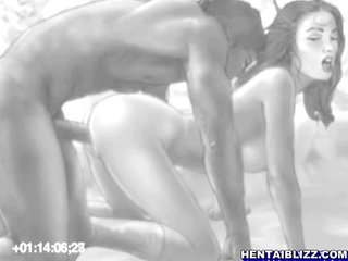 Hentai Guy With Double Cocks Fucked Two Girls
