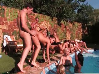 Groupsex Hardcore Orgy Outdoor Party Pool Teen