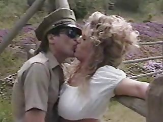 Army Kissing  Outdoor Vintage