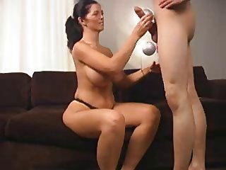 Big Tits Handjob  Mom Old and Young