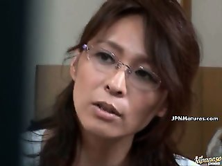 Asian Glasses Japanese Mature