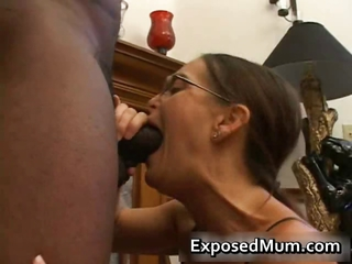 Blowjob Deepthroat Glasses Interracial