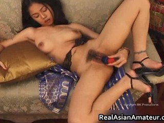 Nude Asian Teen Plays With Huge Dildo Part1