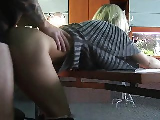 Office secretary fucked by a huge cock in the toilet