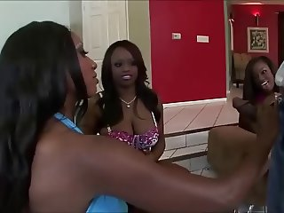 3 hot bitches in ebony orgy