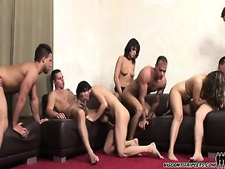 Jimmy Visconti cums after good sex with hot dudes and babes!