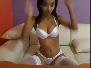 Teen Ebony doing Anal on webcam