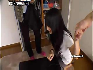 Shirouto Hyakka gets vibrated and a hard cock in her mouth