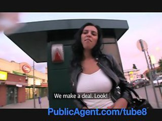 PublicAgent Big boobed Russian partiality over and fucked against my car