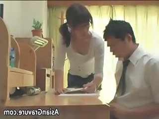 Sexy asian home teacher shows her part4