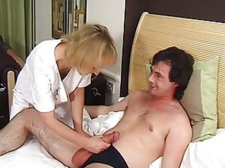 Handjob Mature Nurse Uniform
