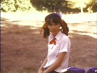 Outdoor Pigtail Student Teen Uniform Vintage