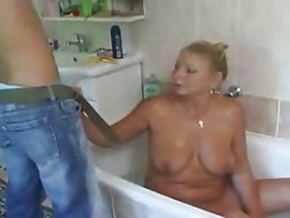 Bathroom Chubby Mature Mom Old and Young