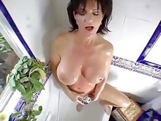 Bathroom Big Tits Masturbating Mature Mom Natural Old and Young