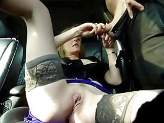 Amateur  Car Handjob Mature Pussy Stockings Wife