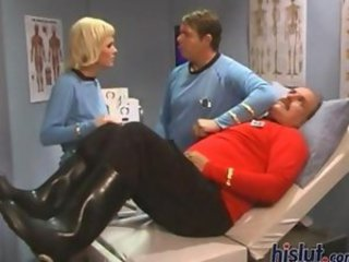 The long ears of this Mr. Spock wannabee are not enough to satisfy Vicky Vette