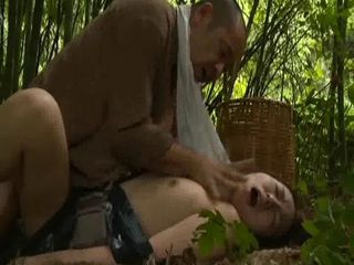 Asian Daddy Daughter Japanese Old and Young Outdoor