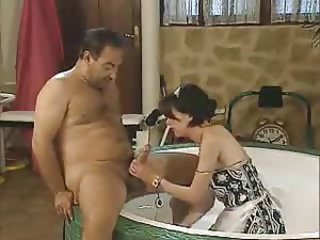 Bathroom Daddy Handjob Maid Old and Young Teen Vintage