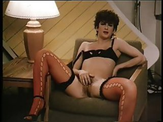 Lingerie Masturbating  Solo Stockings Vintage