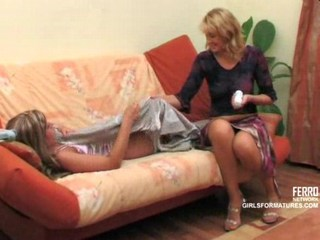 MILF has fun with young girl