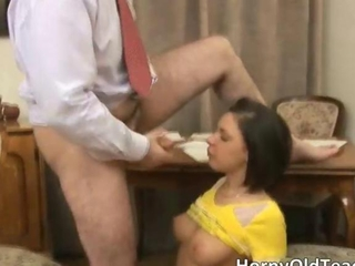 Awesome brunette newborn gets pounded abiding