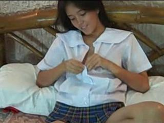 Asian Cute Stripper Student Teen Uniform