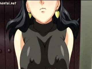 Anime milf with huge tits riding