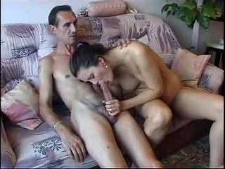 Big dicked venerable guy shafting a hottie