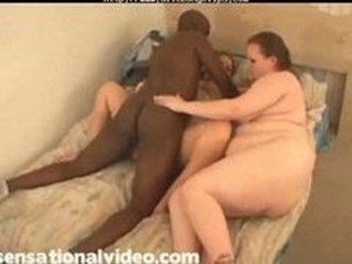 Amateur BBW Interracial MILF Threesome
