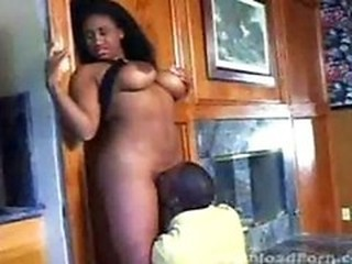 Ebony beauty getting eaten out and fucked good.